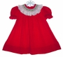 "<img src=""https://p11.secure.hostingprod.com/@grammies-attic.com/ssl/images/blue-sold-1.gif""> House of Hatten Red Corduroy Smocked Baby Bishop Dress"