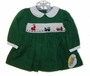 "<img src=""https://p11.secure.hostingprod.com/@grammies-attic.com/ssl/images/blue-sold-1.gif""> NEW Carriage Boutiques Green Corduroy Smocked Baby Dress with Santa Embroidery"