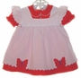 "<img src=""https://p11.secure.hostingprod.com/@grammies-attic.com/ssl/images/blue-sold-1.gif""> Red Dress and White Pinafore with Butterfly Applique"