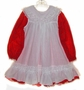 "<img src=""https://p11.secure.hostingprod.com/@grammies-attic.com/ssl/images/blue-sold-1.gif""> Bryan Red Flowered Dress with White Ruffled Collar and White Pinafore"