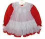 "<img src=""https://p11.secure.hostingprod.com/@grammies-attic.com/ssl/images/blue-sold-1.gif""> Bryan Red Christmas Print Dress with White Ruffled Pinafore"