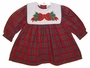 "<img src=""https://p11.secure.hostingprod.com/@grammies-attic.com/ssl/images/blue-sold-1.gif""> NEW Austin & Ashley Red Plaid Dress with Holiday Appliqued Square Collar"