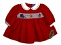 "<img src=""https://p11.secure.hostingprod.com/@grammies-attic.com/ssl/images/blue-sold-1.gif""> NEW Carriage Boutiques Red Corduroy Smocked Baby Dress with Santa Embroidery"