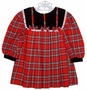 "<img src=""https://p11.secure.hostingprod.com/@grammies-attic.com/ssl/images/blue-sold-1.gif""> Thomas Red Plaid Baby Dress with Black Velvet Collar and Cuffs"