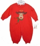"<img src=""https://p11.secure.hostingprod.com/@grammies-attic.com/ssl/images/blue-sold-1.gif""> NEW Austin & Ashley Red Cotton Knit Romper with Reindeer Applique"