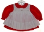 "<img src=""https://p11.secure.hostingprod.com/@grammies-attic.com/ssl/images/blue-sold-1.gif""> Petit Ami Red Dress and White Pinafore with Rosebuds"