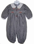 "<img src=""https://p11.secure.hostingprod.com/@grammies-attic.com/ssl/images/blue-sold-1.gif""> Carriage Boutiques Black Checked Smocked Baby Longall with Cherries Embroidery"