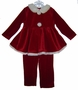 "<img src=""https://p11.secure.hostingprod.com/@grammies-attic.com/ssl/images/blue-sold-1.gif""> Rose Cottage Red Velvet Santa Suit Romper"