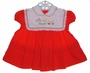 "<img src=""https://p11.secure.hostingprod.com/@grammies-attic.com/ssl/images/blue-sold-1.gif""> C. I. Castro Red Baby Dress with Embroidered Bib Collar"