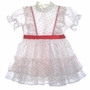 "<img src=""https://p11.secure.hostingprod.com/@grammies-attic.com/ssl/images/blue-sold-1.gif""> White Ruffled Party Dress with Tiny Red Flowers For Toddlers"