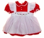 "<img src=""https://p11.secure.hostingprod.com/@grammies-attic.com/ssl/images/blue-sold-1.gif""> Petit Ami Red Velvet Dress with White Embroidered Pinafore"