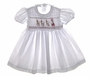 "<img src=""https://p11.secure.hostingprod.com/@grammies-attic.com/ssl/images/blue-sold-1.gif""> Garden of Angels White Smocked Baby Dress with Santa Embroidery"