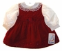 "<img src=""https://p11.secure.hostingprod.com/@grammies-attic.com/ssl/images/blue-sold-1.gif""> NEW B. T. Kids Red Velvet Jumper with Ivory Satin Blouse"
