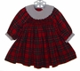 "<img src=""https://p11.secure.hostingprod.com/@grammies-attic.com/ssl/images/blue-sold-1.gif""> Sophie Dess Red Plaid Smocked Baby Dress with White Collar"