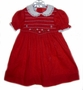 "<img src=""https://p11.secure.hostingprod.com/@grammies-attic.com/ssl/images/blue-sold-1.gif""> Princess Anne Dark Red Smocked Little Girls Dress with White Lace Trimmed Collar"