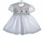 "<img src=""https://p11.secure.hostingprod.com/@grammies-attic.com/ssl/images/blue-sold-1.gif""> NEW Garden of Angels Smocked Baby Dress with Holiday Embroidery"