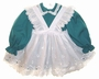 "<img src=""https://p11.secure.hostingprod.com/@grammies-attic.com/ssl/images/blue-sold-1.gif""> Miniworld Teal Dress with Eyelet Pinafore"
