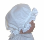 "<img src=""https://p11.secure.hostingprod.com/@grammies-attic.com/ssl/images/blue-sold-1.gif""> NEW Nanny's Touch White Cotton Nightcap with White Eyelet Trim"