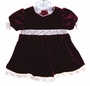 "<img src=""https://p11.secure.hostingprod.com/@grammies-attic.com/ssl/images/blue-sold-1.gif""> Little Bitty Burgundy Velvet Baby Dress with Ivory Trim"