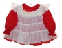 "<img src=""https://p11.secure.hostingprod.com/@grammies-attic.com/ssl/images/blue-sold-1.gif""> Bryan Red Print Baby Dress with White Lacey Ruffled Pinafore"