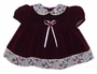 "<img src=""https://p11.secure.hostingprod.com/@grammies-attic.com/ssl/images/blue-sold-1.gif""> Rose Cottage Burgundy Velvet Baby Dress with Cream Lace Collar"