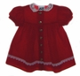 "<img src=""https://p11.secure.hostingprod.com/@grammies-attic.com/ssl/images/blue-sold-1.gif""> Jolene Dark Red Velvet Baby Dress with White Lace Collar"