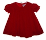 "<img src=""https://p11.secure.hostingprod.com/@grammies-attic.com/ssl/images/blue-sold-1.gif""> Vintage 1960s Tiny Tots Classic Red Velvet Baby Dress"