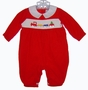 "<img src=""https://p11.secure.hostingprod.com/@grammies-attic.com/ssl/images/blue-sold-1.gif""> Betti Terell by Simi Red Corduroy Smocked Baby Longall with Train Embroidery"