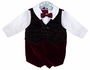 "<img src=""https://p11.secure.hostingprod.com/@grammies-attic.com/ssl/images/blue-sold-1.gif""> Burgundy Velvet Shorts Set with White Shirt and Bowtie"