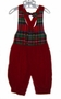 "<img src=""https://p11.secure.hostingprod.com/@grammies-attic.com/ssl/images/blue-sold-1.gif""> Good Lad Red Velvet Baby Knickers with Red Plaid Mock Vest and Bowtie"