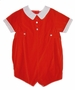 "<img src=""https://p11.secure.hostingprod.com/@grammies-attic.com/ssl/images/blue-sold-1.gif""> NEW Feltman Brothers Red Velvet Baby Romper with White Collar and Cuffs"