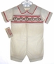 "<img src=""https://p11.secure.hostingprod.com/@grammies-attic.com/ssl/images/blue-sold-1.gif""> NEW House of Hatten Cream Corduroy Smocked Baby Shortall with Red and Green Embroidery"