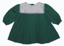 "<img src=""https://p11.secure.hostingprod.com/@grammies-attic.com/ssl/images/blue-sold-1.gif""> Petit Ami Green Pleated Baby Dress with Embroidered White Portrait Collar"