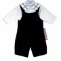 "<img src=""https://p11.secure.hostingprod.com/@grammies-attic.com/ssl/images/blue-sold-1.gif""> NEW Jack and Teddy Black Velvet Longall Set with Sailor Collar"
