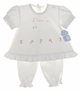 "<img src=""https://p11.secure.hostingprod.com/@grammies-attic.com/ssl/images/blue-sold-1.gif""> NEW Will'Beth White Cotton Pantaloon Set with Holiday Embroidery"
