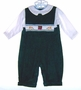 "<img src=""https://p11.secure.hostingprod.com/@grammies-attic.com/ssl/images/blue-sold-1.gif""> NEW Petit Ami Green Corduroy Smocked Longall with Drum and Bugles Embroidery for Babies and Toddlers"