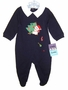 "<img src=""https://p11.secure.hostingprod.com/@grammies-attic.com/ssl/images/blue-sold-1.gif""> NEW Rumble Tumble Navy Footed Romper with Holiday Applique"
