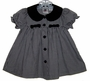 "<img src=""https://p11.secure.hostingprod.com/@grammies-attic.com/ssl/images/blue-sold-1.gif""> Black and White Checked Dress with Black Velvet Collar"