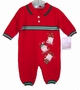 "<img src=""https://p11.secure.hostingprod.com/@grammies-attic.com/ssl/images/blue-sold-1.gif""> NEW Will'Beth Red Knit Baby Romper with Holiday Appliques"