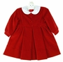 "<img src=""https://p11.secure.hostingprod.com/@grammies-attic.com/ssl/images/blue-sold-1.gif""> NEW Sarah Louise Red Velvet Dress with Removable White Collar"