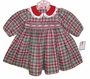 "<img src=""https://p11.secure.hostingprod.com/@grammies-attic.com/ssl/images/blue-sold-1.gif""> NEW Petit Ami Red and Green Plaid Dress with Embroidery Trimmed Red Collar"