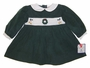 "<img src=""https://p11.secure.hostingprod.com/@grammies-attic.com/ssl/images/blue-sold-1.gif""> NEW Petit Ami Green Corduroy Smocked Dress with Holiday Embroidery"