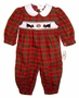 "<img src=""https://p11.secure.hostingprod.com/@grammies-attic.com/ssl/images/blue-sold-1.gif""> NEW Rosalina Red Plaid Smocked Bubble with Embroidered Scottie Dogs"