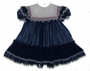 "<img src=""https://p11.secure.hostingprod.com/@grammies-attic.com/ssl/images/blue-sold-1.gif""> Bryan Navy Dotted Toddler Dress with Red Ribbon Trimmed Lace Collar"