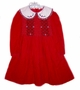 "<img src=""https://p11.secure.hostingprod.com/@grammies-attic.com/ssl/images/blue-sold-1.gif""> . Michael Dark Red Corduroy Smocked Dress with Plaid Trimmed Collar"