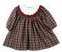 "<img src=""https://p11.secure.hostingprod.com/@grammies-attic.com/ssl/images/blue-sold-1.gif""> NEW Petit Ami Dark Red Plaid Dress with Embroidered Portrait Collar"