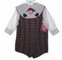 "<img src=""https://p11.secure.hostingprod.com/@grammies-attic.com/ssl/images/blue-sold-1.gif""> NEW Hearts Design Red and Green Plaid Shortall with Santa Appliqued Shirt"