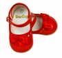 "<img src=""https://p11.secure.hostingprod.com/@grammies-attic.com/ssl/images/blue-sold-1.gif""> NEW Red Patent Leather Mary Jane Style Baby Shoes with Red Satin Bows"