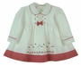 "<img src=""https://p11.secure.hostingprod.com/@grammies-attic.com/ssl/images/blue-sold-1.gif"">  Willbeth White Dress with Rosebud Embroidery and Red Checked Trim"
