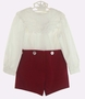"<img src=""https://p11.secure.hostingprod.com/@grammies-attic.com/ssl/images/blue-sold-1.gif""> NEW Victorian Heirlooms Dark Red Velvet Button on Shorts Set with White Battenburg Portrait Collar"